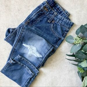 Lucky Brand Distressed Billy Straight